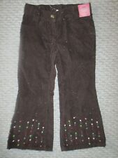 $35 Nwt Gymboree Girl Pretty Brown Shimmer Embellished Pants Size 4 Xs