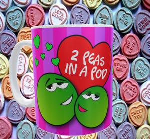 Valentines day Peas in a pod mug
