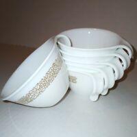 Corelle Corning Ware Coffee Tea Cups Woodland Brown Flowers Hook Handle Set of 7