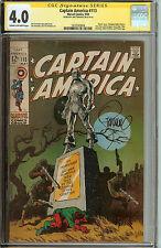 Captain America #113 CGC SS 4.0 Signed Jim Steranko
