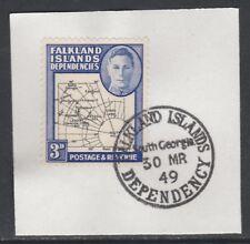 Falkland Deps 5901  1946 KG6 Maps 3d with MADAME JOSEPH FORGED POSTMARK
