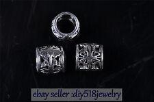 20pcs 5mm Charm Tibet Silver Reborn spacer bead Diy Jewelry making Bracelet 7601