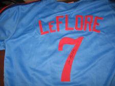 Expos Ron Leflore signed Jersey  w/COA