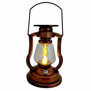 LED Vintage Solarlaterne + LED Kerze Solar Gartenlaterne Laterne Solarglas