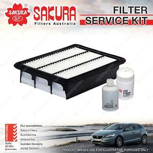 Sakura Oil Air Fuel Filter Service Kit for Hyundai Santa Fe CM 09/2006-10/2009