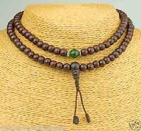 Mala Rosenholz braun grün Armband Halskette Nepal Rosario Armband Buddha 23