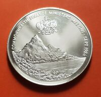ST. LUCIA $10 Dollars 1986 SILVER PROOF Commonwealth Finance Ministers Meeting