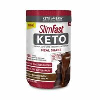 Slim Fast Keto Meal Replacement Powder Brownie Batter Fudge 4 net carbs BBD 5/21