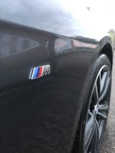 2x For BMW M Sport Emblem Sticker Side Wing Fender M Power Badge Chrome