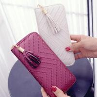 Women Lady PU Leather Clutch Long Wallet Card Holder Purse Handbag Envelope Bag