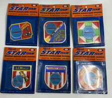 1970 IDEAL FULL SET OF 6 STAR TEAM MISSION BADGE INSIGNIAS MOC.