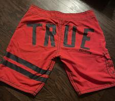 True Religion Men's Red Board Shorts 30