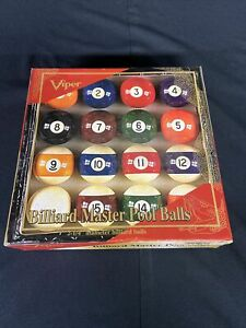 "Viper Billiard Master 2-1/4"" Regulation Size Billiard/Pool Balls, Complete 16..."