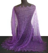 Etole Violet chale russe idee Cadeau Original Femme couleur VIOLET Tricoté main