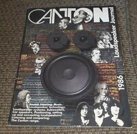 Full Color CANTON Loudspeaker Journal 1986 catalog book Audio Subwoofer VINTAGE