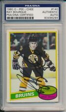 Ray Bourque Autographed 1980 O-Pee-Chee Rookie Card (PSA Authentic)