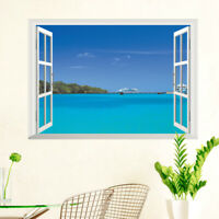 EE_ Sea 3D Window View Removable Wall Sticker Vinyl Art Room Decal Decor Mural