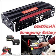 High Capacity 68000mAh Car Jump Starter Power Emergency Battery 4USB Charger Kit