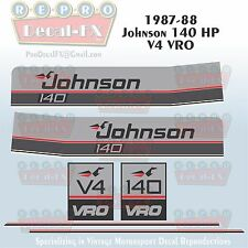 1987-88 Johnson 140 HP V4 Sea-Horse Outboard Reproduction 6Pc Marine Vinyl Decal
