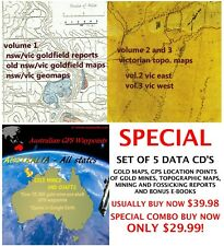 AustralIa Gold Maps, GPS gold location points, Fossicking Mining Reports.