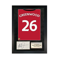 Authentic signed Framed Mason Greenwood Reds in Manchester shirt Print
