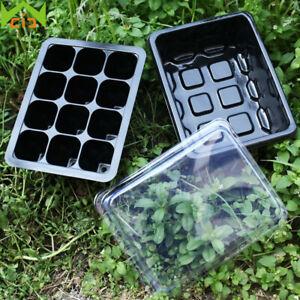 12 Hole Nursery Insert Cultivate Plant Case Tray Flower Pot Grow Germination Box