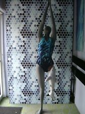 Gray Mannequin Female Posed W/ Beach Shark Leg