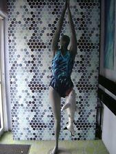 Gray Mannequin Female Posed With Beach Shark Leg