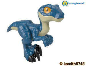 Imaginext JURASSIC WORLD BLUE RAPTOR XL plastic toy DINOSAUR animal Velociraptor