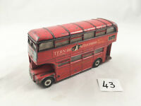 VINTAGE DINKY TOYS # 289 LONDON TRANSPORT ROUTEMASTER BUS DOUBLE DECKER TERN