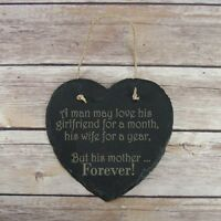 Personalised Birthday HomeGift Mother Forever Slate Hanging Sign Plaque Birthday