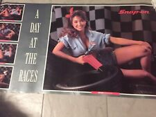 """/""""NEW/"""" Snap-on Tools Racing Advertising Poster A Day At The Races 1993 Vintage"""