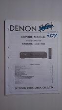 Denon dcd-960 service manual original repair book stereo cd player