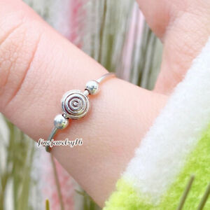Orbit Fidget Ring Anxiety Stacakable Ring 925 Sterling Silver Split Knuckle Ring