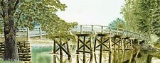 Postcard Massachusetts Oversze Concord National Historical Park North Bridge Mnt