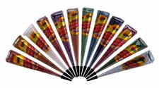 12 Multi Color Glitter Henna Cones Temporary Tattoo Ink Mehandi Design