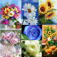 5D Full Drill Diamond Painting Flower Embroidery Cross Stitch Kit Art Home Decor