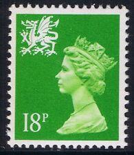 GB QEII MNH STAMP Wales SG W49eb 18p Bright Green LB  Regional Machin Definitive