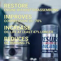 Nano Oil Additive Treatment Resurs Car Engine Restorer Lubricant Petrol Diesel