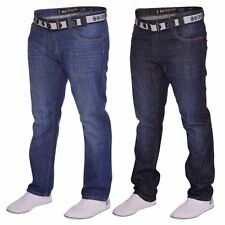 Crosshatch Long Classic Fit, Straight Jeans for Men