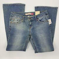 NWT Aeropostale Hailey Skinny Distressed Flare 7/8 Short Denim Jeans