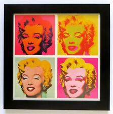 ANDY WARHOL Marilyn Quad 1967 Official Litho Print Framed 14 x 14