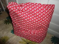 """GOLF & CO RED & WHITE FLORAL TWIN FITTED SHEET 10"""" NEW 100% COTTO"""