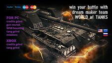 World of Tanks (WoT) - Any Tier X tank / Within 6-7 days ! (Not Bonus Code)