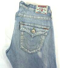"True Religion Women""s Cameron Button Fly Ripped Boyfriend Skinny Jeans 25x32 EUC"