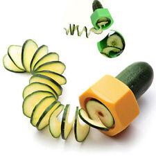 Spiralschneider Gemüseschäler Spezialmesser Spiral Schäler Messer Gelb  NEU