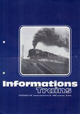 catalogo FULGUREX 1974 Informations Trains No 9 Scale O HO HOn3  F D E  aa