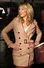 Trenchcoat aus ECHT-LEDER Ledermantel sand-beige für Damen