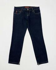 Miss sixty j lot jeans donna usato capri W27 tg 41 slim stretch zip denim T5390