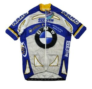 Hincapie Mens Large Blue White BMW Cycling Jersey NWT
